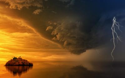 In het oog van de storm is het rustig